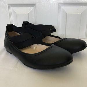 Torrid Strapey Black Studded Flats EUC